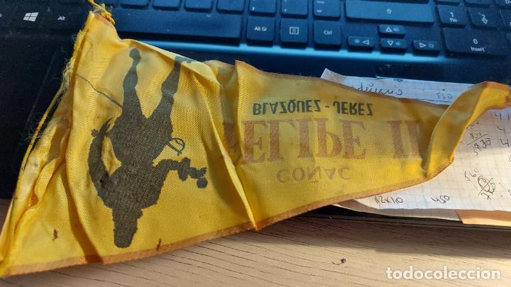 Banderines de colección: BANDERIN DE COÑAC -FELIPE II-BLAZQUEZ JEREZ 26CM MIDE DE LARGO - Foto 2 - 276219803