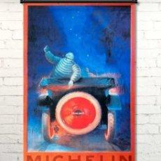 Banderines de colección: MICHELIN BIBENDUM, CARTEL DE TELA.. Lote 276637943
