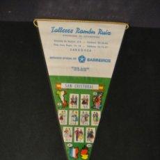 Banderines de colección: BANDERIN DE ESPAÑA , SAN CRISTOBAL - PUBLICIDAD SERVICIO OFICIAL BARREIROS. Lote 276932988