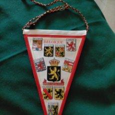 Banderines de colección: BANDERÍN BELGIQUE. DOBLE CARA : ESCUDOS Y BANDERA. Lote 283199433