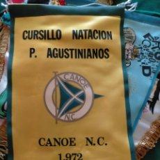 Banderines de colección: BANDERÍN CANOE N. C. 1972. CURSILLO NATACIÓN PADRES AGUSTINOS. Lote 283199663