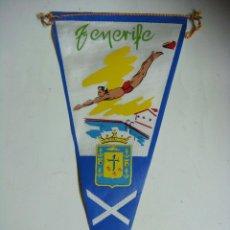 Galhardetes de coleção: BANDERIN EN TELA AÑOS 60-NATACION TENERIFE. Lote 284453998