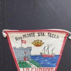Banderines de colección: ANTIGUO BANDERIN RECUERDO MONTE SANTA TECLA - LA GUARDIA - 20 CM - AÑOS 60 - EN BUEN ESTADO -. Lote 287832248