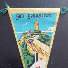 Banderines de colección: ANTIGUO BANDERIN DE SAN SEBASTIAN - MONTE IGUELDO - AÑOS 60 - 27 CM - EN BUEN ESTADO -. Lote 287837768