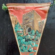 Banderines de colección: ANTIGUO BANDERIN DE LA ALCAZABA ALMERIA - AÑOS 60 - EN BUEN ESTADO - 27 CM -. Lote 288143783