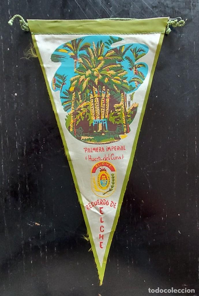 ANTIGUO BANDERIN DE PALMERA IMPERIAL HUERTO DEL CURA - ELCHE - RECUERDO - AÑOS 60 - EN BUEN ESTADO - (Coleccionismo - Banderines)