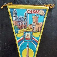Banderines de colección: ANTIGUO BANDERIN DE CADIZ - AÑOS 60 - 27 CM -. Lote 288145588