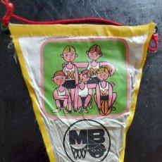Banderines de colección: ANTIGUO BANDERIN DE MB DIA NACIONAL DEL MINI BASKET - 1965 - 27 CM -. Lote 288145878