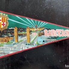 Banderines de colección: ANTIGUO BANDERIN DE BARCELONA - AÑOS 60 - 27 CM - EN BUEN ESTADO -. Lote 288146003