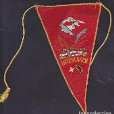 Banderines de colección: BANDERIN BORDADO MONTAÑISMO INTERLAKEN SUIZA. Lote 289858888
