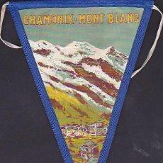 Banderines de colección: BANDERIN MONTAÑISMO CHAMONIX MONT-BLANC. Lote 289859063