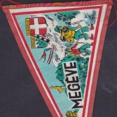 Banderines de colección: BANDERIN MONTAÑISMO MEGEVE. Lote 289859173