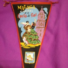 Galhardetes de coleção: BANDERIN MÁLAGA AÑOS 60. Lote 291610298