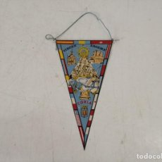 Galhardetes de coleção: BANDERÍN CON IMAGEN DE VIRGEN ARGEME, CORIA, UNOS 16 CMS. DE ALTO. Lote 293274288