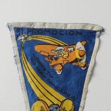 Banderines de colección: BANDERIN ESCUELA DE ESPECIALISTAS LEÓN - 51ª PROMOCIÓN - TOPO GIGIO - 1965. Lote 293861053