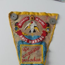 Galhardetes de coleção: BANDERIN ANIS MARABU BERNALDO DE QUIROS MIERES DEL CAMINO ASTURIAS 1960. Lote 295565308