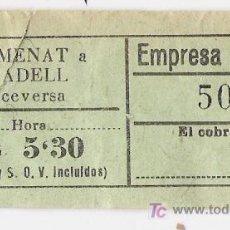 Coleccionismo Billetes de transporte: SENTMENAT / SABADELL BILLETES AUTOBUS ****CAP I CUA ***. Lote 4552836