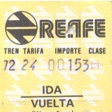 Coleccionismo Billetes de transporte: BILLETE TREN RENFE. Lote 8985130