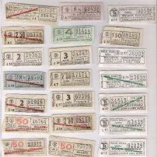 Coleccionismo Billetes de transporte: COLECCION DE 57 BILLETES DE TRANVIA DE BARCELONA AÑOS 40 / 50 *CAP I CUAS*. Lote 16292259