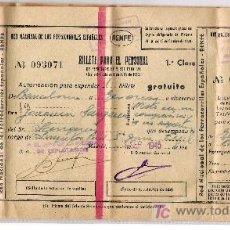 Coleccionismo Billetes de transporte: RED NACIONAL DE LOS FERROCARRILES ESPAÑOLES * RENFE* 1945. Lote 7299623