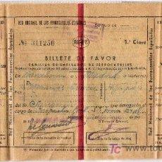 Coleccionismo Billetes de transporte: RED NACIONAL DE LOS FERROCARRILES ESPAÑOLES * RENFE* 1945. Lote 7299669
