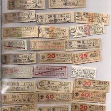 Coleccionismo Billetes de transporte: COLECCION DE 26 BILLETES DE TRANVIA **CAP I CUAS ** AÑOS 40/50. Lote 21816801