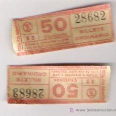 Coleccionismo Billetes de transporte: BILLETES DE TRANVIA AÑOS 40 *CAP I CUA Y CORRELATIVOS*. Lote 7496671