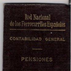 Coleccionismo Billetes de transporte: RED NACIONAL DE FERROCARRILES ESPAÑOLES **CARNET DE PENSIONISTA** SITGES. Lote 24205561