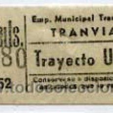 Coleccionismo Billetes de transporte: BILLETE DE TRANVIA DE MADRID. Lote 26468185