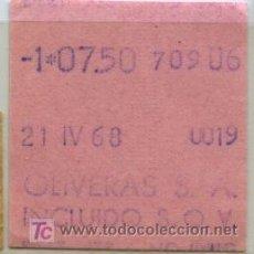 Coleccionismo Billetes de transporte: BILLETE DE BUS DE HOSPITALET (BARCELONA) // EMPRESA OLIVERAS, S.A.. Lote 9424299