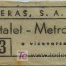 Coleccionismo Billetes de transporte: BILLETE DE BUS DE HOSPITALET (BARCELONA) // EMPRESA OLIVERAS, S.A. . Lote 9424334