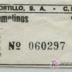 Coleccionismo Billetes de transporte: BILLETE DE BUS DE MALAGA // AUTOMOVILES PORTILLO, S.A. // MALAGA - TORREMOLINOS. Lote 19184650