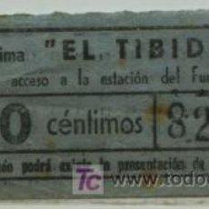 Coleccionismo Billetes de transporte: BILLETE DE TRANVIA DE BARCELONA // TRANVIA DEL TIBIDABO // 50 CTS.. Lote 25731025