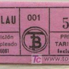 Coleccionismo Billetes de transporte: BILLETE DE TRANVIA DE BARCELONA // TRANVIA DEL TIBIDABO . Lote 27328937