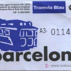 Coleccionismo Billetes de transporte: BILLETE DE TRANVIA DE BARCELONA // TRANVIA DEL TIBIDABO . Lote 25981878