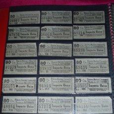 Collectionnisme Billets de transport: BILLETES CAPICUA DE AUTOBUS . Lote 10702236