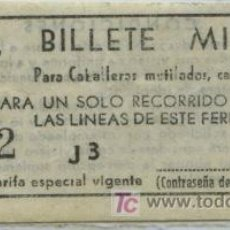 Sammeln von Fahrkarten - BILLETE DE METRO DE BARCELONA // FCMB // SERIE MILITAR - 26032343