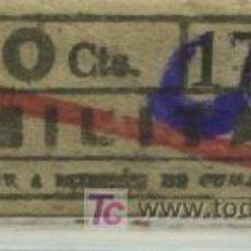 Coleccionismo Billetes de transporte: BILLETE DE TRANVIA DE BARCELONA // TDB // SERIE MILITAR // 10 - 15 CTS.. Lote 27471693