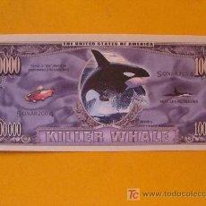 Collectionnisme Billets de transport: BILLETE EEUU CONMEMORATIVO. DÓLAR. ANIMALES ORCA BALLENA ASESINA. DÓLARES. PERFECTO. . Lote 39233096