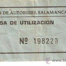 Coleccionismo Billetes de transporte: ESTACION DE AUTOBUSES DE SALAMANCA-TASA DE UTILIZACION-3PTAS.. Lote 27428280
