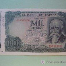 Coleccionismo Billetes de transporte: BILLETE DE ESPAÑA. FACSÍMIL FNMT. MADRID 17 SEPTIEMBRE 1971. 1000 PESETAS JOSÉ ECHEGARAY 40/40 . Lote 24290558