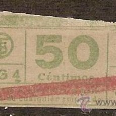 Coleccionismo Billetes de transporte: 140473 BILLETES CAPICUAS BILLETE ORDINARIO AG4 50C.. Lote 16152735