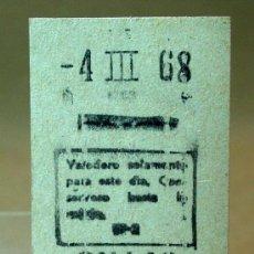 Coleccionismo Billetes de transporte: BILLETE DE METRO, ESTACION CALLAO, MADRID, 1968 . Lote 16308482