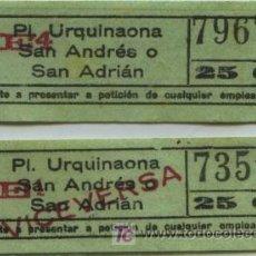 Coleccionismo Billetes de transporte: (F10//6) BILLETES DE TRANVIA DE BARCELONA // SAYEX // ORTEGA. Lote 221525330