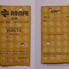Coleccionismo Billetes de transporte: TICKET/BILLETE TREN RENFE 1976 LLODIO-BILBAO. Lote 18052999