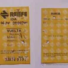 Coleccionismo Billetes de transporte: TICKET/BILLETE TREN RENFE 1976 LLODIO-BILBAO. Lote 18053011
