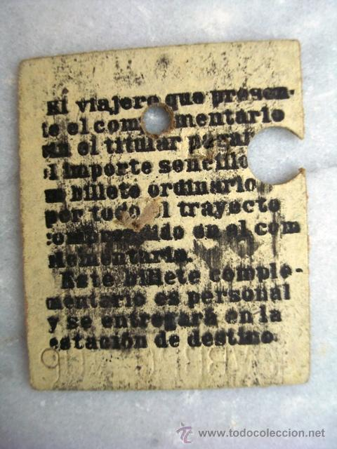 Coleccionismo Billetes de transporte: ANTIGUO BILLETE CORDOBA - JEREZ DE LA FRONTERA. 1ª clase. - Foto 2 - 26962499