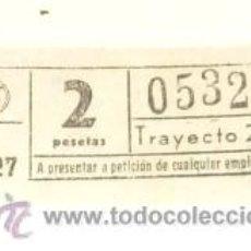 Coleccionismo Billetes de transporte: BILLETE AUTOBUS BARCELONA AÑOS 60 A27 DE 2 PTAS. TRAYECTO 2 ª. Lote 19209633