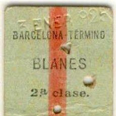 Coleccionismo Billetes de transporte: (BT-16)BILLETE DE TRANPORTE DE CARTON BARCELONA-BLANES. Lote 20608234