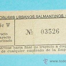Coleccionismo Billetes de transporte: BILLETE AUTOBUSES URBANOS SALMANTINOS, S.L.. Lote 21857994